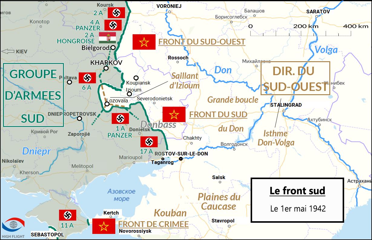 Le Sud du front de l'Est le 1er mai 1942